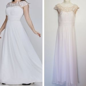 EVER PRETTY white lace cap sleeves wedding dress 6